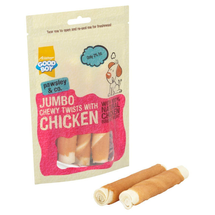 12 x Good Boy Jumbo Twisters with Chicken Dog Treats 100g - Vital Pet Products - My Pet Gift Box