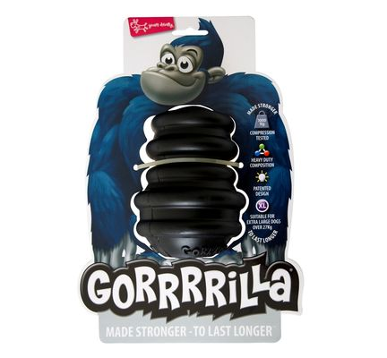 Gorrrrilla Classic Black Dog Chew Toy Medium Dog Toy - Vital Pet Products - My Pet Gift Box