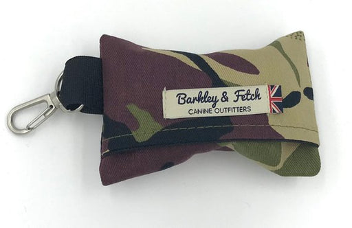 Green Camo Dog Poo Bag Holder - Barkley & Fetch - My Pet Gift Box