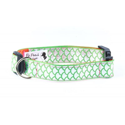 Green Mermaid Dog Collar - Pet Pooch Boutique - My Pet Gift Box