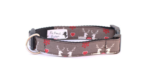 Grey Christmas Classic Collar - Pet Pooch Boutique - My Pet Gift Box