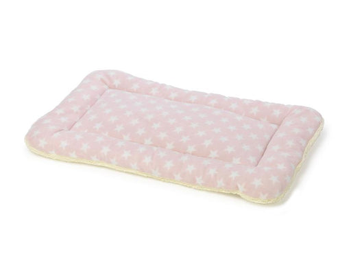 FLEECE STAR PUPPY CRATE MAT 2 PACK PINK - House Of Paws - My Pet Gift Box