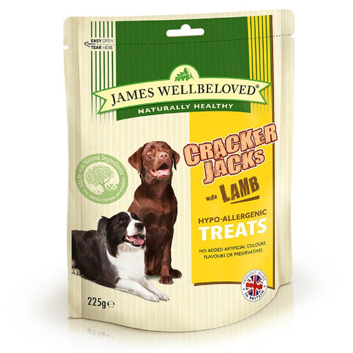 6 x James Wellbeloved Lamb Crackerjacks Dog Treats 225g - Vital Pet Products - My Pet Gift Box