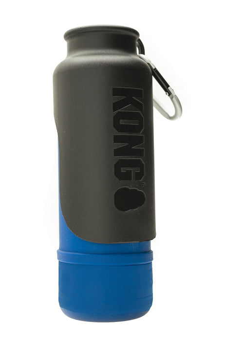 KONG H20 25oz Insulated Stainless Steel Blue Dog Water Bottle & Travel Bowl