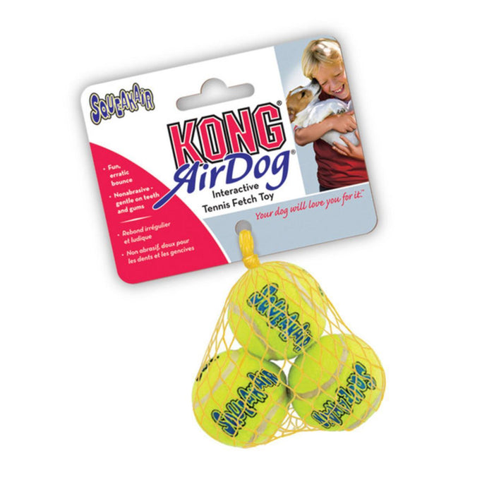 KONG AirDog Squeakair Balls Small Dog Toy (3 Pack) - Gor Pets - My Pet Gift Box