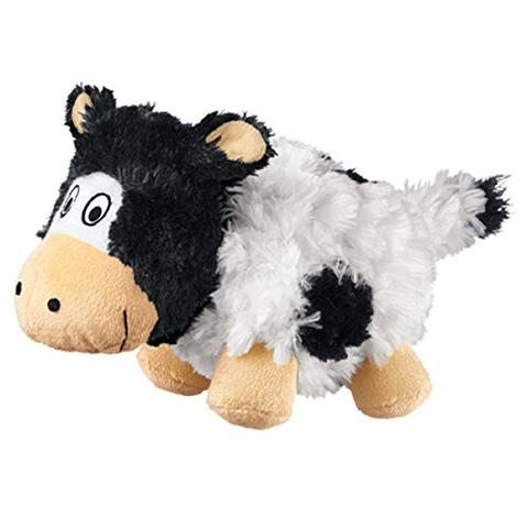 KONG Barnyard Cruncheez Cow Dog Toy