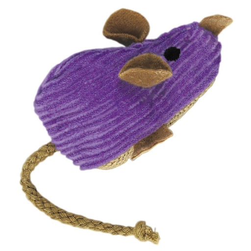 KONG Cat Corduroy Mouse Refillable Catnip Cat Toy