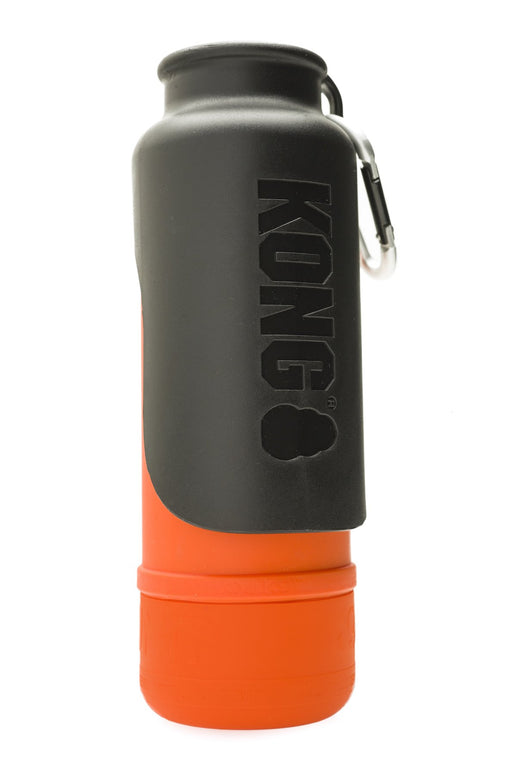 KONG H20 25oz Insulated Stainless Steel Orange Dog Water Bottle & Travel Bowl - PJ Pet Products - My Pet Gift Box