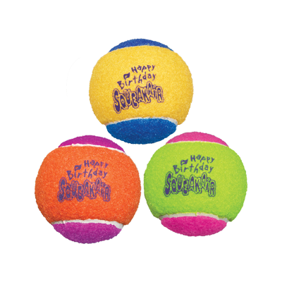 KONG Birthday Squeakair Ball Dog Toy (pack of 3)