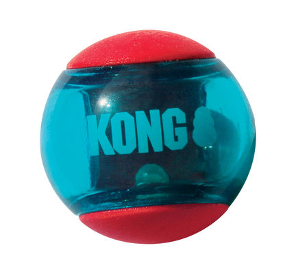 KONG Squeezz Action Red Ball Large Dog Toy (Pack of 2)