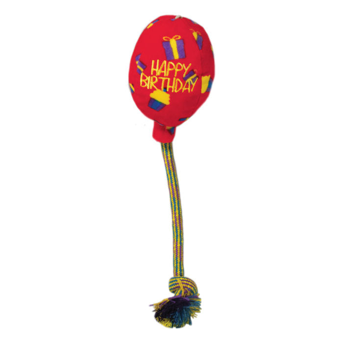 Kong Occasions Red Birthday Balloon Dog Toy - Gor Pets - My Pet Gift Box