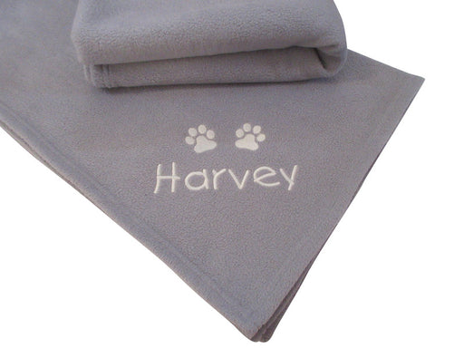 Personalised Large Dog Blanket - Grey - My Posh Paws - My Pet Gift Box