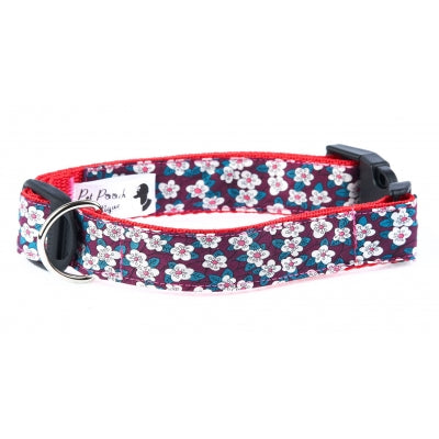 Handmade Liberty Blood Red Fifi Dog Collar - Pet Pooch Boutique - My Pet Gift Box