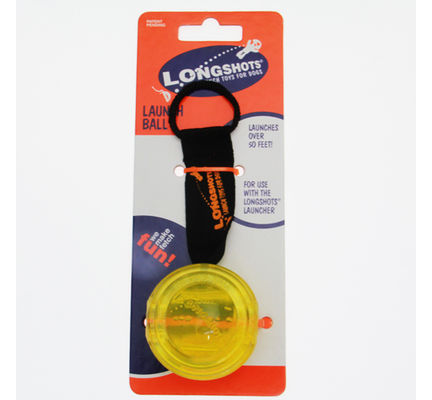 Longshots Large Launch Ball Yellow Dog Toy - Vital Pet Products - My Pet Gift Box