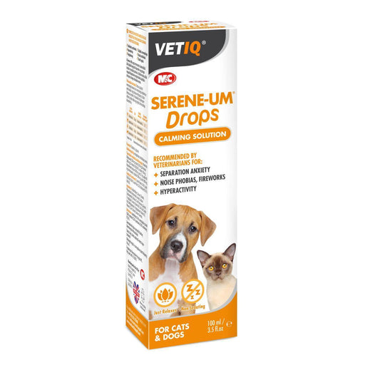 Mark & Chappell VetIQ Serene-UM drops 100ml for Cats and Dogs - Vital Pet Products - My Pet Gift Box