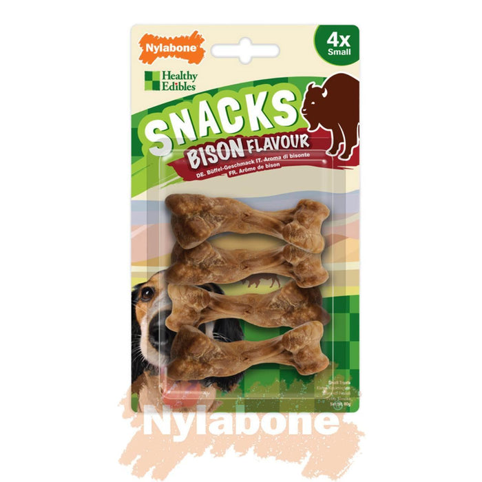 6 x Nylabone Healthy Edibles Snacks Bison Small 4 per pack - Nylabone - My Pet Gift Box
