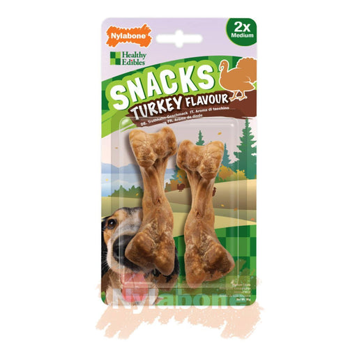 5 x Nylabone Healthy Edibles Snacks Turkey Medium 2 per pack - Vital Pet Products - My Pet Gift Box