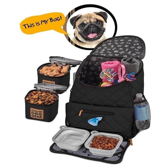 Overland Dog Gear Week Away Travel Kit Bag For Medium / Large Dogs - PJ Pet Products - My Pet Gift Box