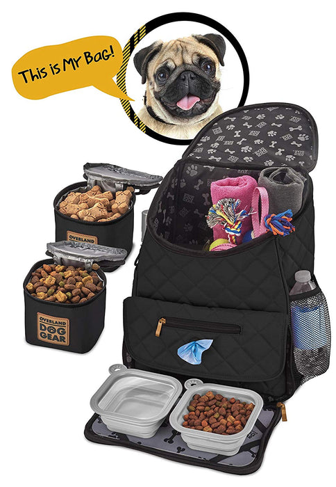 Overland Dog Gear Weekender BackPack For Dogs - PJ Pet Products - My Pet Gift Box