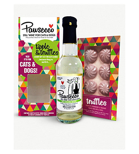 Woof & Brew Pawsecco Tipple & Truffles Gift Box