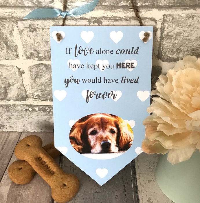 Personalised 'If Love Alone' Pet Photo Banner Plaque - Harts Craft - My Pet Gift Box
