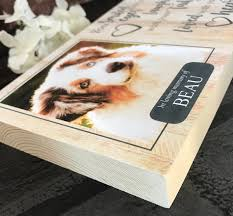 Personalised Pine Pet Memorial - You Smiled With Your Eyes - Harts Craft - My Pet Gift Box