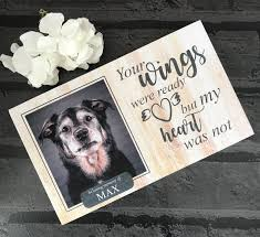 Personalised Pine Pet Memorial - Your Wings Were Ready - Harts Craft - My Pet Gift Box