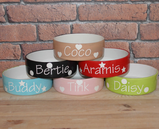 Personalised Polka Design Dog Bowl - Crazy Fur You - My Pet Gift Box