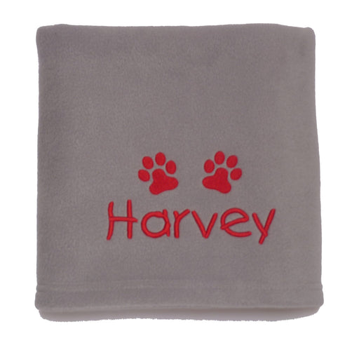 Personalised Small Dog Blanket - Grey - My Posh Paws - My Pet Gift Box