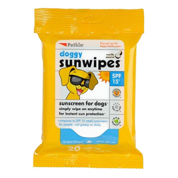 Petkin Sunscreen Wipes for Dogs SPF15 20 per pack