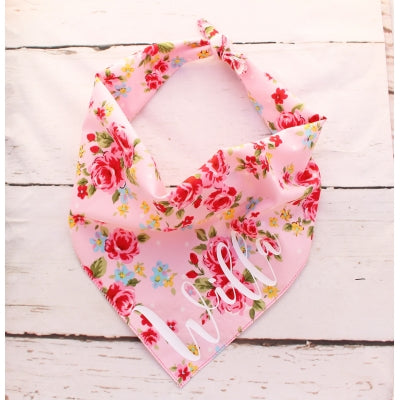 Pink Vintage Personalised Dog Bandana