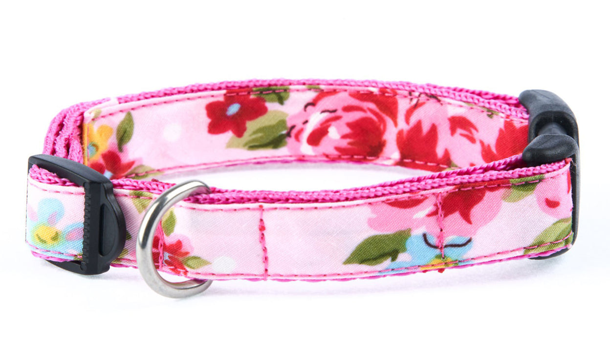 Handmade Pink Vintage Slim fit Dog Collar - Pet Pooch Boutique - My Pet Gift Box