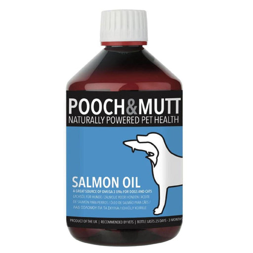 Pooch & Mutt Salmon Oil for Dogs and Cats 500ml - Vital Pet Products - My Pet Gift Box