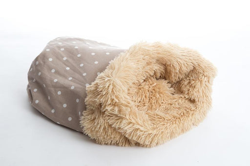 In Vogue Pets Pooch Pod Shaggy Camel & Dotty Taupe - In Vogue Pets - My Pet Gift Box
