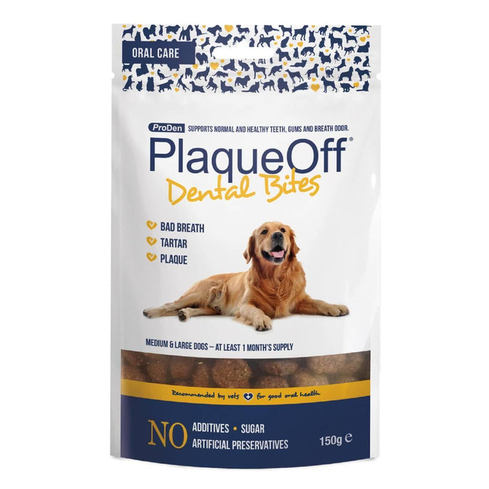 5 x ProDen PlaqueOff Dental Bites For Dogs 150g - Vital Pet Products - My Pet Gift Box