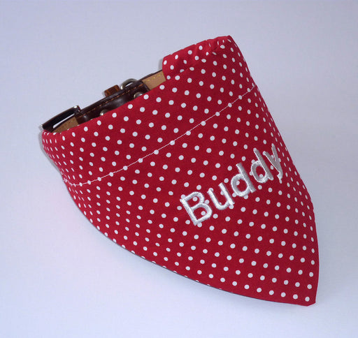 Red & White Polka Dot Dog Bandana