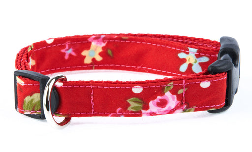 Handmade Red Vintage Slim fit Dog Collar - Pet Pooch Boutique - My Pet Gift Box