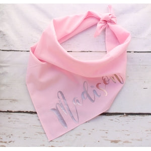 Rose Gold Personalised Dog Bandana