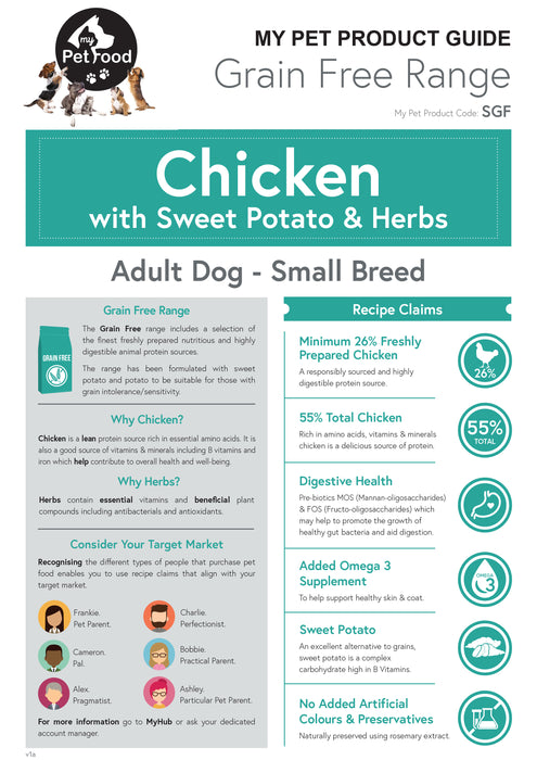 Chicken with Sweet Potato & Herbs (Small Breed) - My Pet Gift Box - My Pet Gift Box