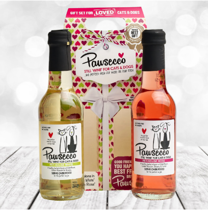 Woof & Brew Pawsecco Hearts Duo Gift Box