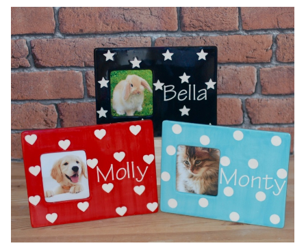 Personalised Polka Design Pet Picture Frame - Crazy Fur You - My Pet Gift Box