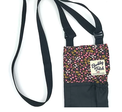 Ditsy Flower Print Corduroy Dog Walk and Treat Bag - Barkley & Fetch - My Pet Gift Box