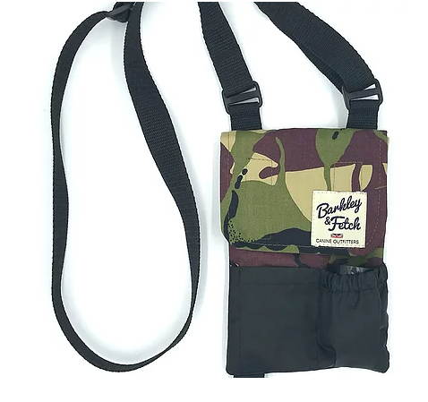 Green Camo Dog Walk and Treat Bag - Barkley & Fetch - My Pet Gift Box