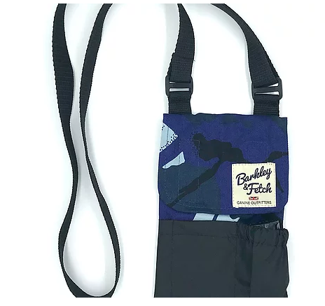 Blue Camo Dog Walk and Treat Bag - Barkley & Fetch - My Pet Gift Box