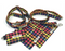 Rainbow Check Dog Collar - Barkley & Fetch - My Pet Gift Box