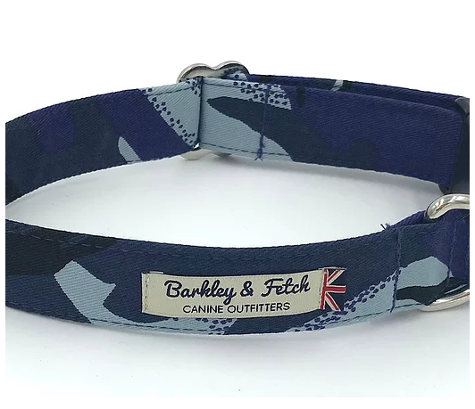 Blue Camo Dog Collar - Barkley & Fetch - My Pet Gift Box