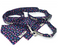 Navy Ditsy Tulip Print Dog Lead - Barkley & Fetch - My Pet Gift Box