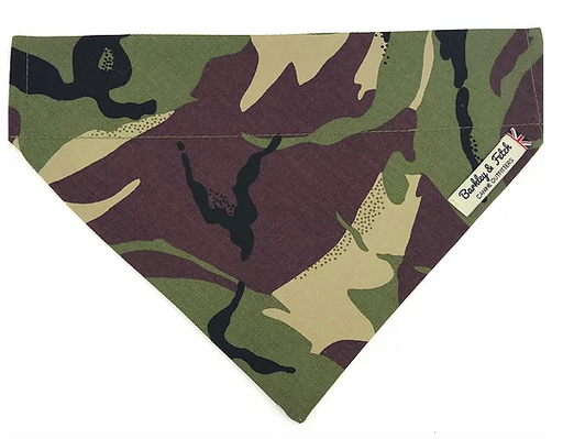 Green Camo Dog Bandana - Barkley & Fetch - My Pet Gift Box
