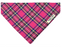 Bright Pink Tartan Dog Bandana - Barkley & Fetch - My Pet Gift Box