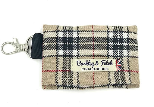 Caramel Tartan Poo Bag Holder - Barkley & Fetch - My Pet Gift Box